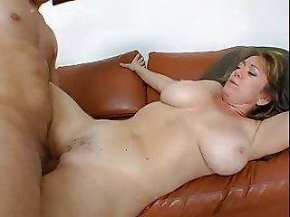 hot mature with big boobs fucks a man