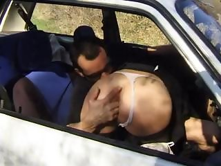 Real rough daddy gets some ass during his picnic in the woods