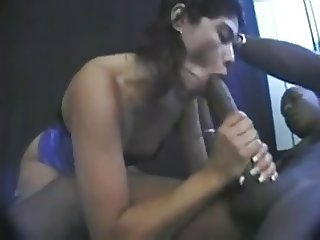 Latina Sucks Mandingo MonsterCock