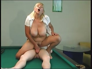 RUSSIAN MOM 16 blonde mature with a yong man