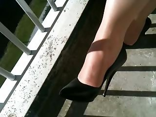 dutch mature sexy legs in heels