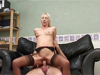 Dirty Blonde British Slut Takes It Up Her Arse !