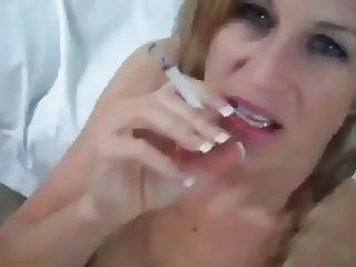 Smoking Blonde fucks dude