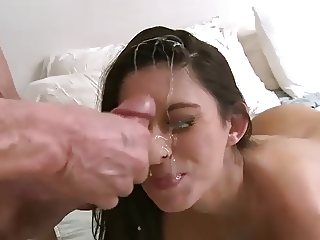 Nikki Daniels gets monster facial load from Peter North