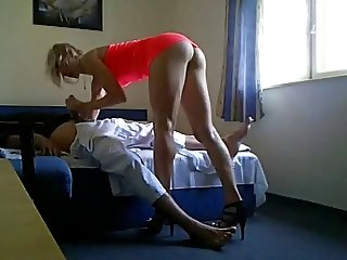 Escort in hotel hidden cam