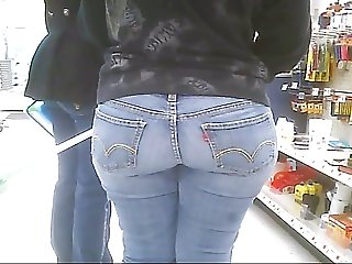 Walmart Tight Jeans Ass Booty