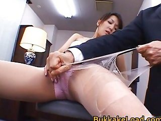 Sexy real asian Shiho getting jizz