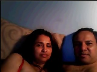 Desi husband wife on webcam