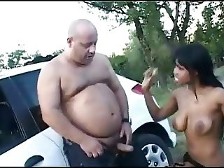 Ebony Prostitute in Public Park