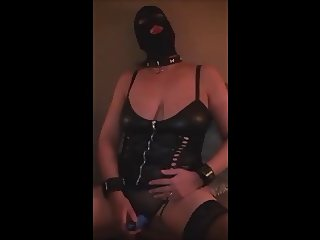 Hooded whore teases her Milf clit
