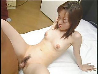 Petite Asian girl with tiny tits and tight body fucked by small dick in bedroom