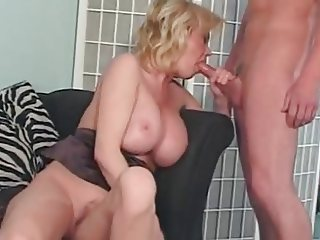 Sensual MILF Slut Caroline Fucks Son's Friend