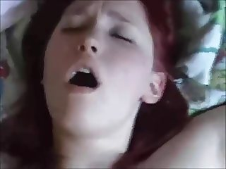 Big titty redhead creampied on real homemade