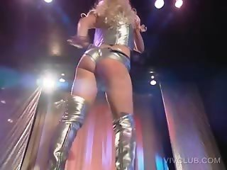 Busty stripper dancing erotically