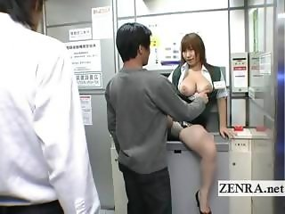 Bizarre Japanese post office offers busty oral sex ATM