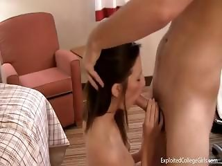 Young college coed Abrina gets interviewed for her first sex movie
