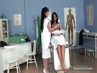 Kinky brunette doctor has a lot of fun part4