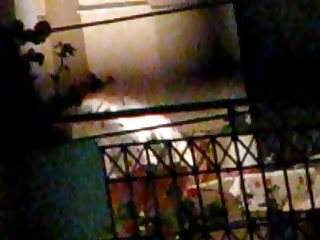 Greek Housewife bendover upskirt on Balcony