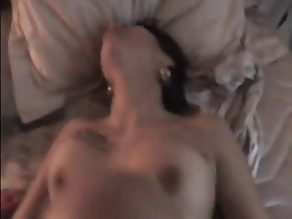Sperm splattering Violetta after fucking her