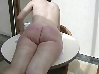 Crazy husband make hard spanking and whipping at your wife