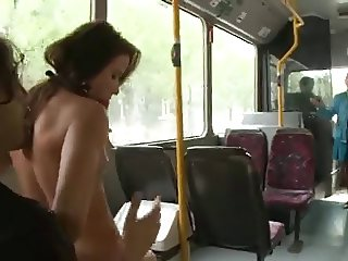 Pretty Hot Czech Angel Drilled on Public Bus