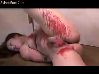 Brutally Whipping & Candling Japanese MILF