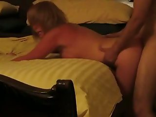 Screaming cuckold slut fucked hard