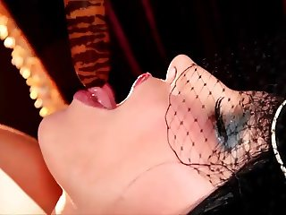 Burlesque Lady Dildos Pusy Screaming Orgasm