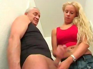 german cum denial handjob bitch in jeans