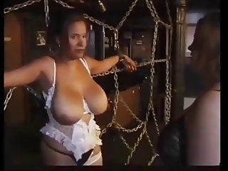 Busty woman takes neighbor into the basment