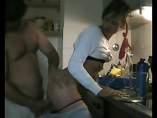 a  Fucking in the Kitchen