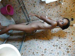 slim black teen before shaved pussy