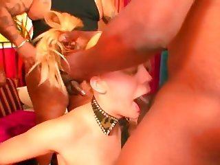 Annette Schwarz gangbang throat fuck