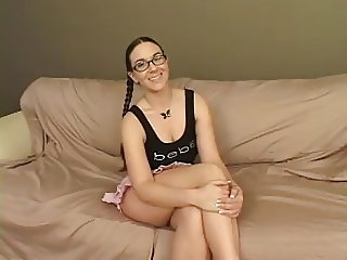 milf, pigtails and glasses