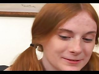 Couple Fucks Pigtailed Freckle Faced Redhead Teen Allison