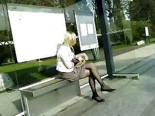 pantyhose stop bus