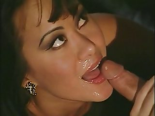 Asia fucks until he cums on her face and mouth
