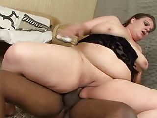 Horny BBW with black cock