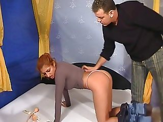 Spanking for red head gipsy whore