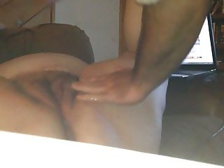 Wife Watching Porn Squirting and Creampie
