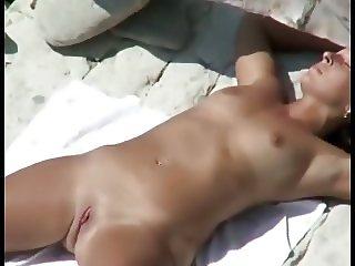 Nude Beach - Hot Matures Fingering & Fucking