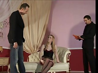 blond girl first whipping