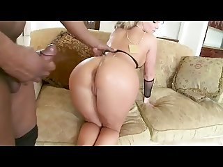 Horny Blond gets fucked in her Ass by Black guy