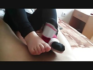 Footjob. Only socks