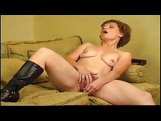 An attractive slim milf solo 2
