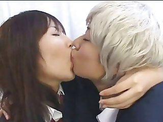 school japaese lesbian deep kissing