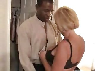 Grannie with big tits interracial.