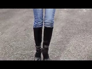 Tight Jeans and Boots!!! Hot slut