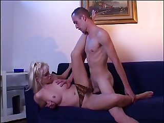 MILF bends it over and shows her hairy pussy then gets drilled