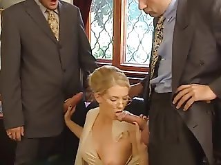 Nice sexy blond Threesome